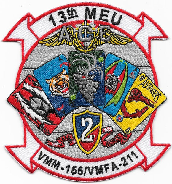 VMM-166 / VMFA-211 ACE Multi-squadron Patch USMC Patch - 13th MEU