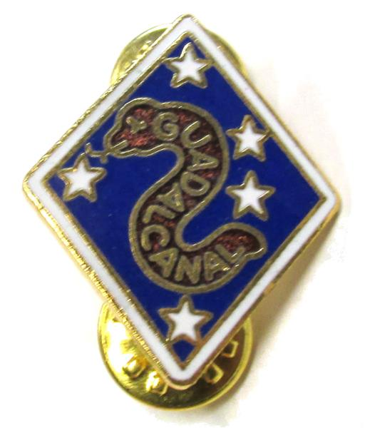 Old Style 1st Marine Division Pin