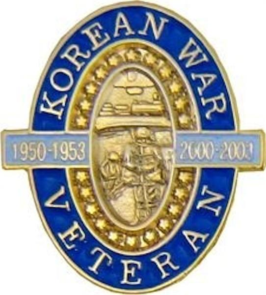 50th Anniversary Korean War Veteran Pin