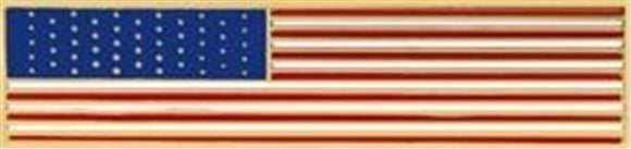 U.S. Flag Pin - Long/Strechted View