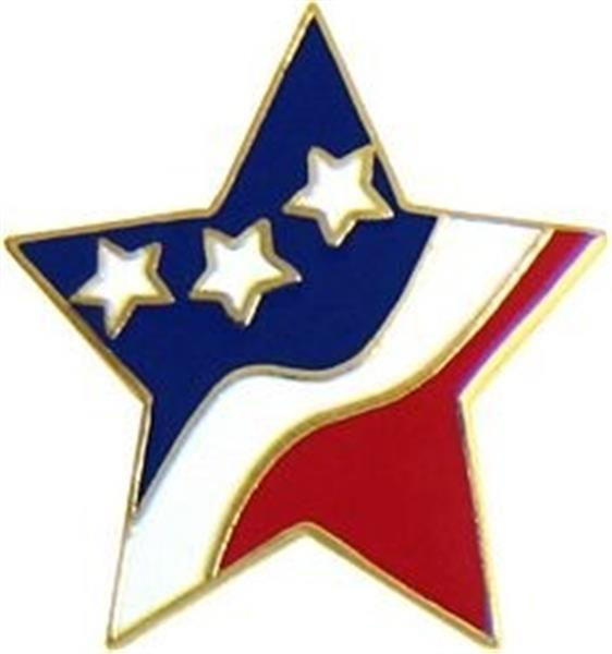 U.S.A. Star Flag Pin