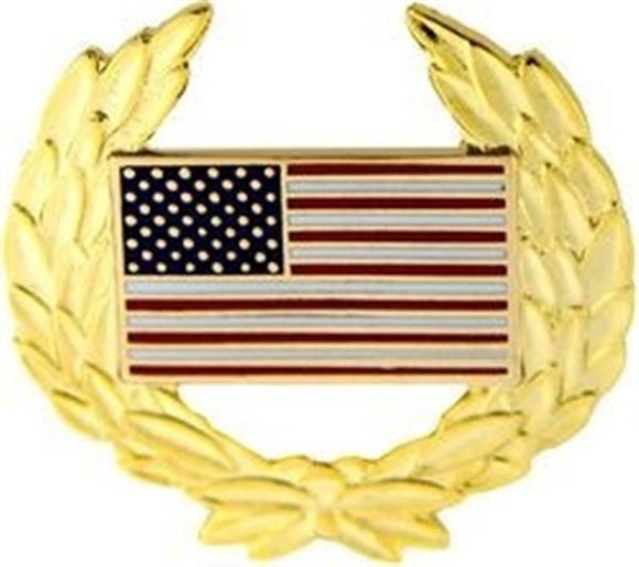 U.S. Flag Wreath Pin