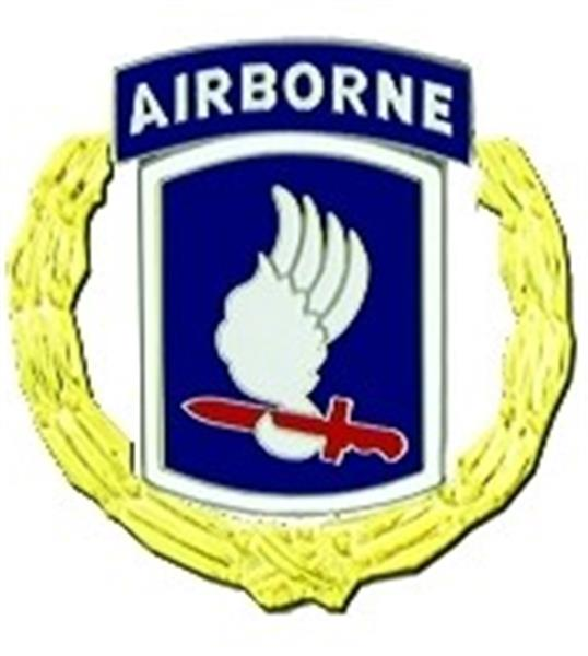 173rd Airborne Division Pin with Wreath