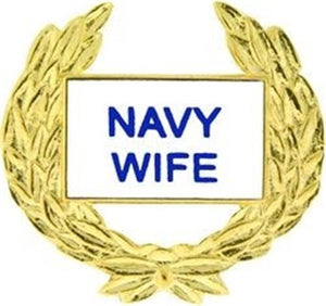 US Navy WIFE Small Pin Size 1 1-8""