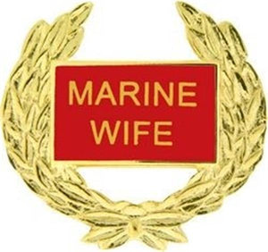 USMC WIFE Hat Pin 1 1-8""