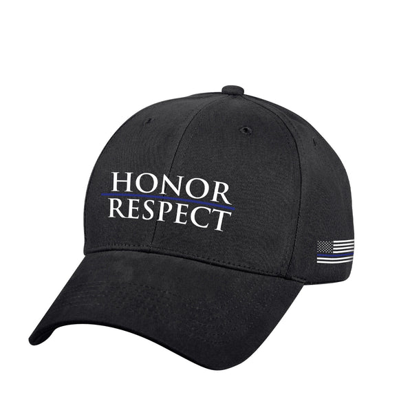 Rothco Honor and Respect Thin Blue Line Low Profile Cap - Black