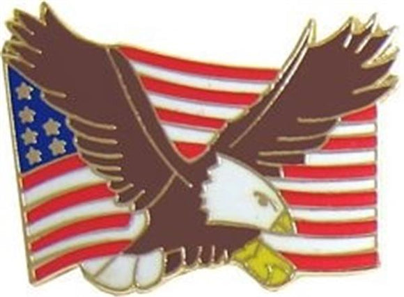 Bald Eagle U.S. Flag Pin