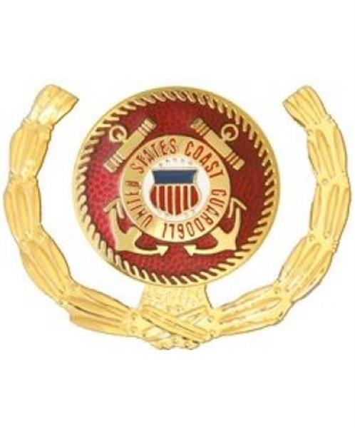USCG RED AND GOLD WREATH Small Pin
