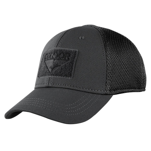 Condor Mesh Flex Tactical Cap Black