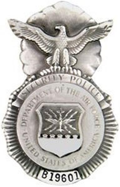 Mini U.S. Air Force Security Police Pin