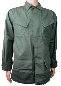 Military Uniform Supply Vietnam Style Slant Pocket Jacket - OLIVE DRAB