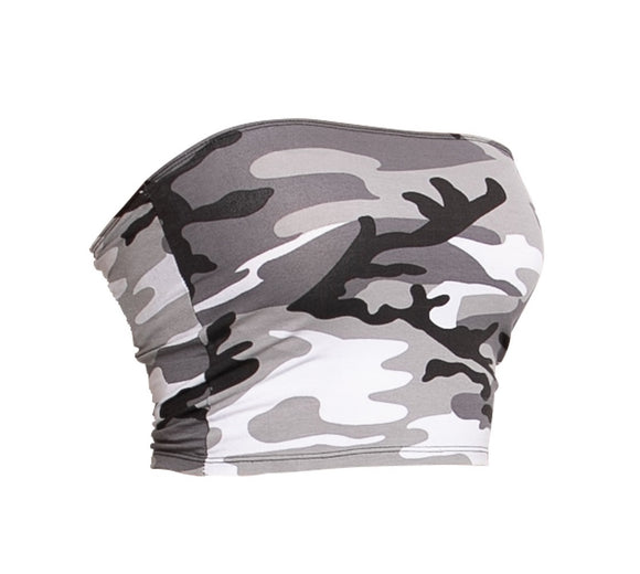 Women's Camo Tube Top