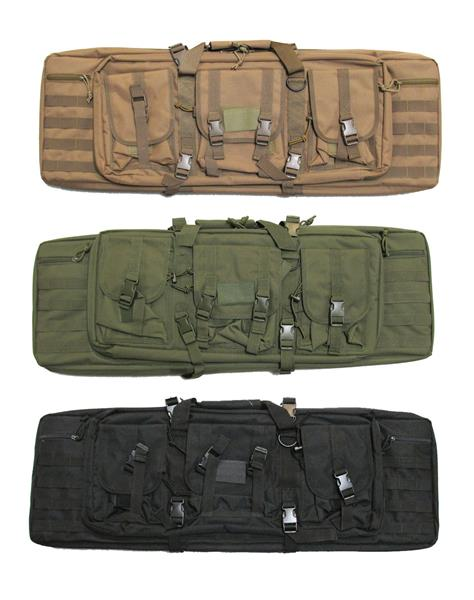 Military Uniform Supply 36 Inch Double Gun Case - Various Colors