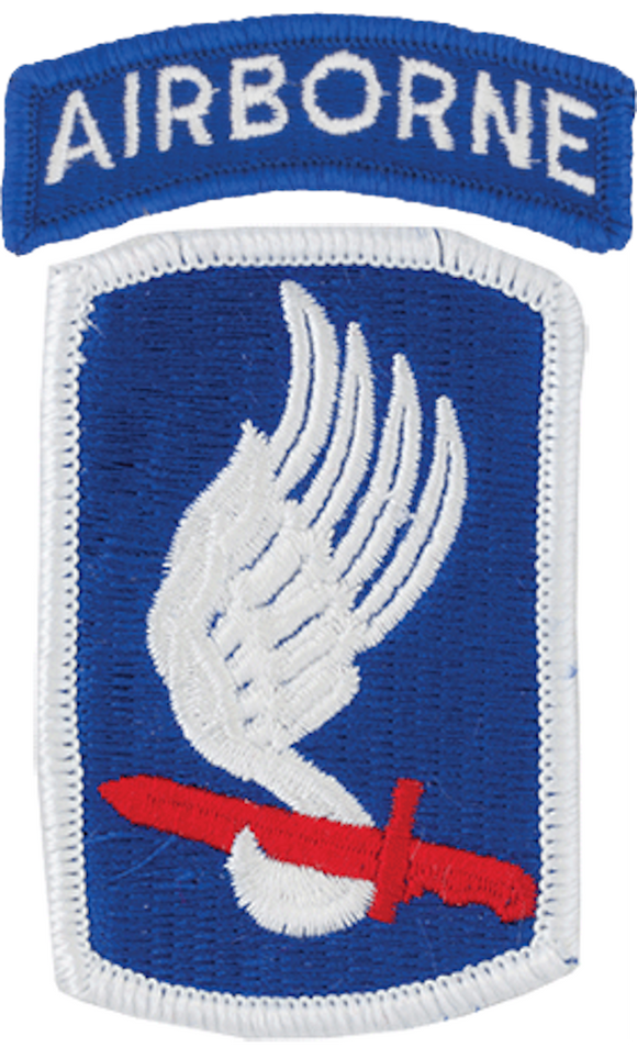 173rd Airborne Brigade Patch with Airborne Tab