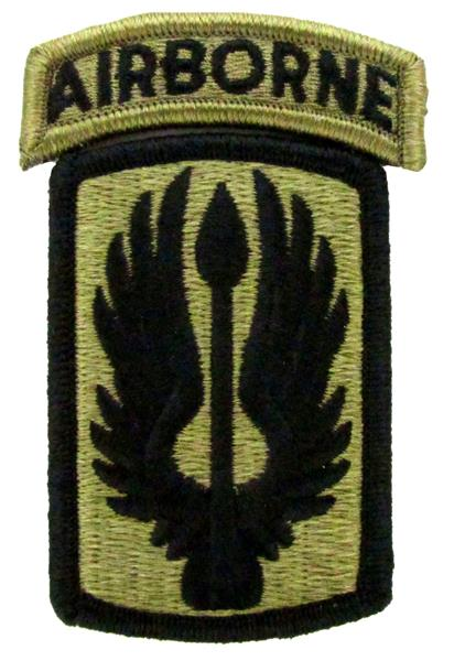 18th Aviation Brigade OCP Patch with Airborne Tab - Scorpion W2