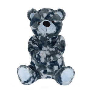 Stuffed Plush Toy Teddy Bear 12 Inch - Blue/Gray Camo