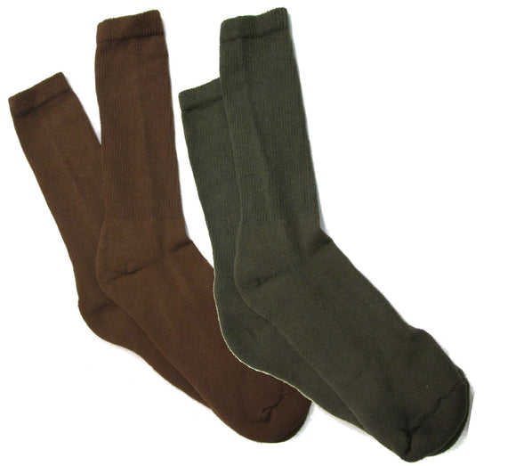 2 Pair Men's U.S. Army Socks Anti-Microbial - Made in U.S.A.