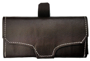 Civil War Period Leather Wallet - DK BROWN