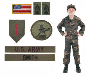 Kids Military Uniform Package - Woodland Camo