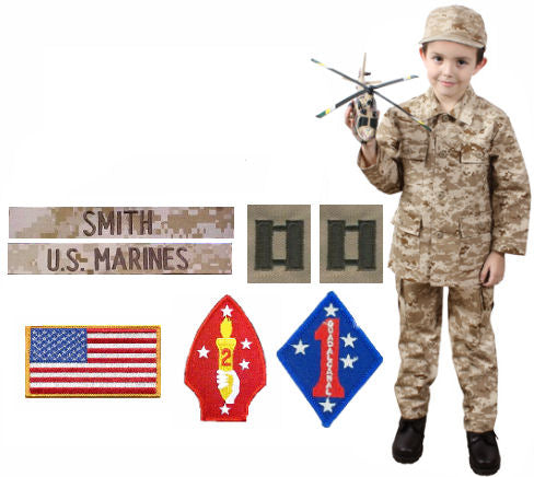 Kids Military Uniform Package - Desert Digital