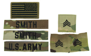 U.S. Army OCP Name Tape Rank Insignia Package