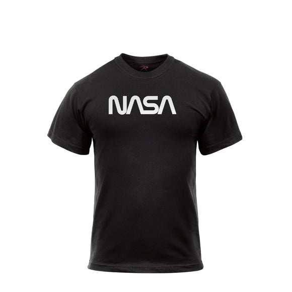 Rothco Authentic NASA Worm Logo T-Shirt - Black