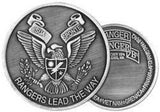 2nd Ranger Battalion Challenge Coin - Bronze or Nickel Finish