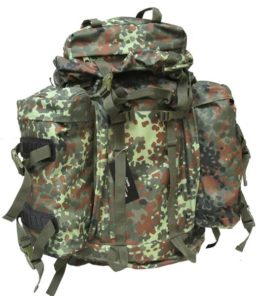 Military Uniform Supply Mountain Rucksack with Detachable Pouches - FLECKTARN