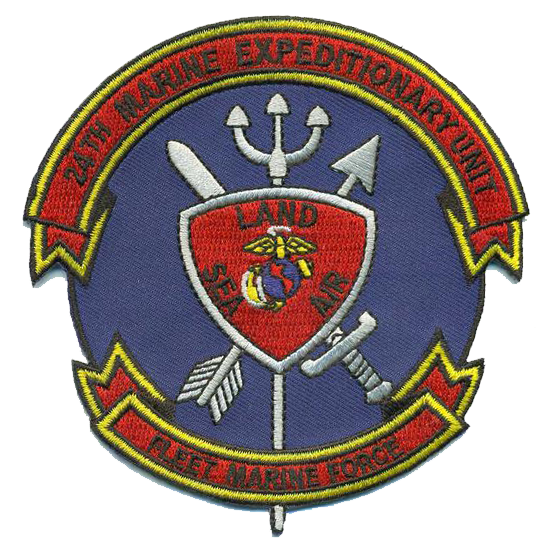 24th Marine Expeditionary Unit USMC Patch - Fleet Marine Force