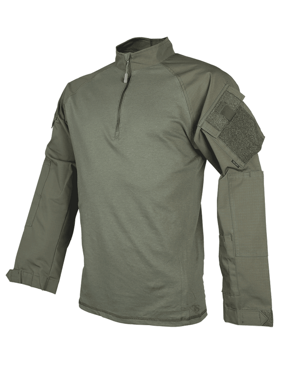 Tru-Spec T.R.U.® 1/4 Zip Combat Shirt LE Green
