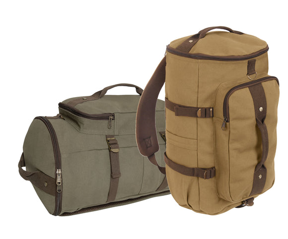 Rothco Convertible Canvas Duffle Backpack