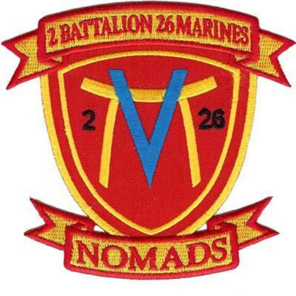 2nd Battalion 26th Marines USMC Patch - NOMADS