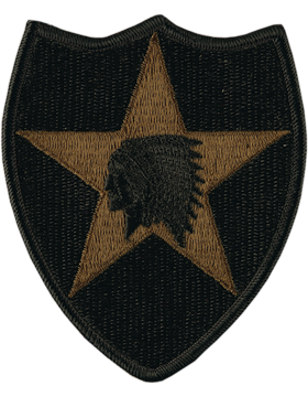 2nd Infantry Division OD Patch - Army BDU Subdued CLOSEOUT Buy Now and Save !