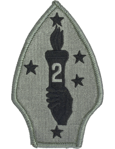 2nd Marine Division ACU Patch - Foliage Green