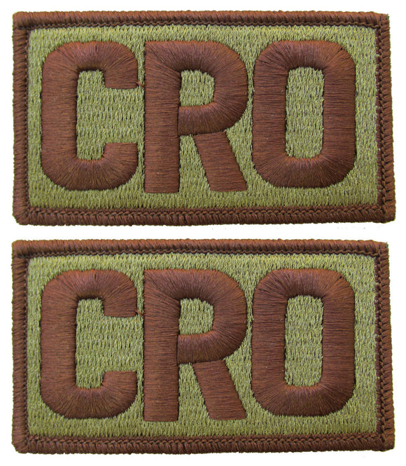 2 Pack of Air Force CRO OCP Patch Spice Brown - Combat Rescue Officer