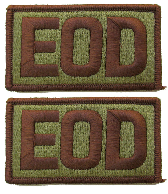 2 Pack of Air Force EOD OCP Patch Spice Brown - Explosive Ordnance Disposal