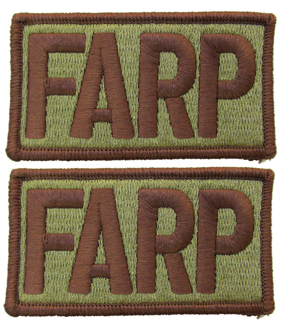 2 Pack of Air Force FARP OCP Patch Spice Brown - Forward Area Refueling Point