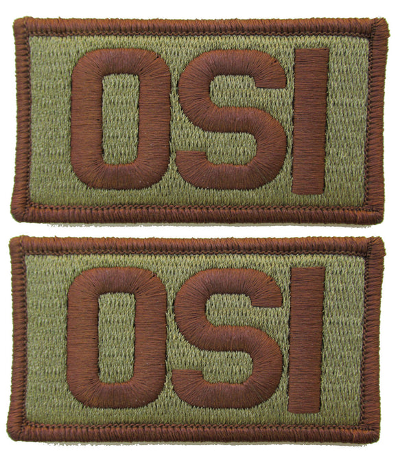 2 Pack of Air Force OSI OCP Patch Spice Brown - Office of Special Investigations