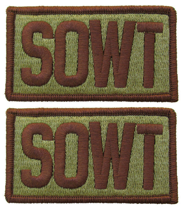 2 Pack of Air Force SOWT OCP Patch Spice Brown - Special Operation Weather Team