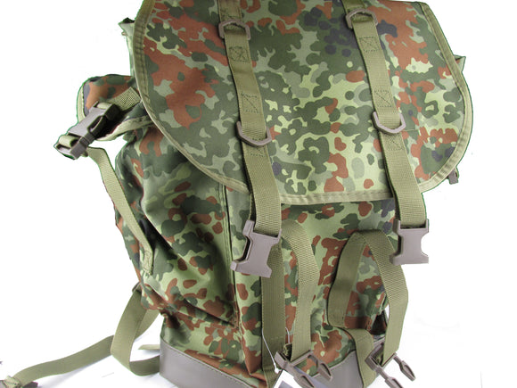 German Army Style Bundeswehr Mountain Backpack - Flecktarn Camo