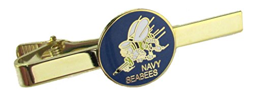 Navy Seabees Insignia Tie Bar