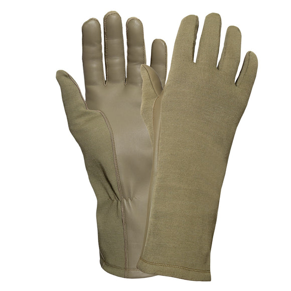 Rothco G.I. Type Flame & Heat Resistant Flight Gloves Coyote Brown