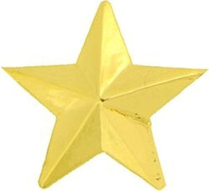 1 Star General Small Hat Pin - GOLD