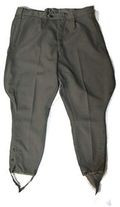 East German Military Breeches - Grey - Authentic European Surplus Military Pants