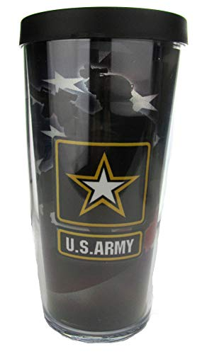 U.S. Army Star Thermal Insulated 16oz Tumbler with Lid