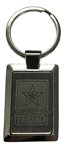 Army Star Logo Laser Etched Key Chain