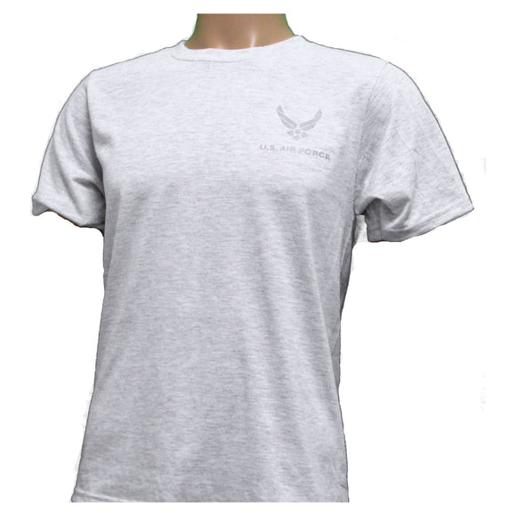 MOISTURE WICKING Gray Air Force PT Shirt - Reflective Material