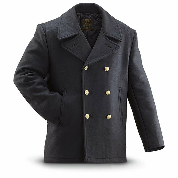 German Navy Pea Coat - Military Peacoat