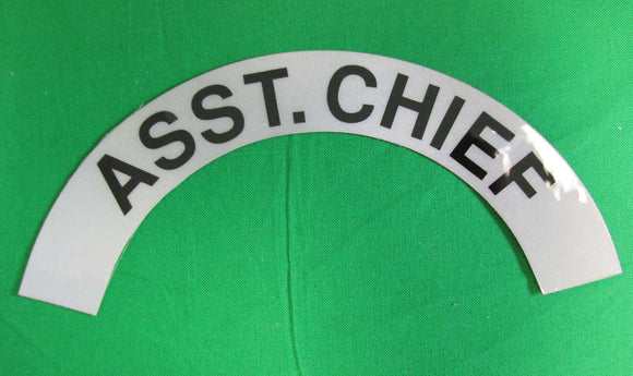 Assistant Chief Decal - Military Surplus - ASST. CHIEF Sticker