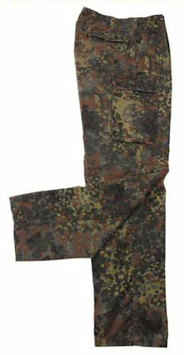 German Flecktarn Camo Field Pants - European Military Surplus